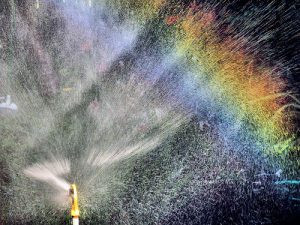 sprinkler rainbow